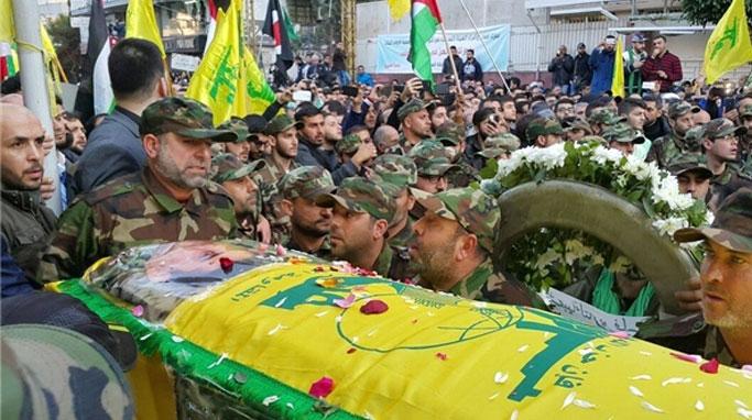 """مراسم خاکسپاری شهید """"سمیر قنطار"""""""